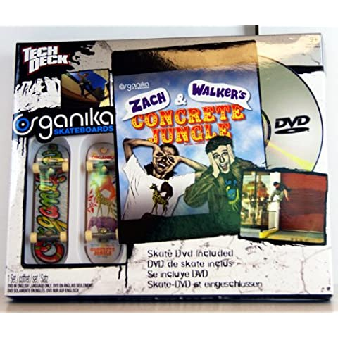Tech Deck - 22510 - 96 mm Fingerboards - 2 Pack Birdhouse Fingerboards y Skate DVD (Inglés!) - 'Zach &