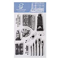 Fugift Brush Silicone Clear Stamp Cling Seal DIY Diary Scrapbooking Embossing Album Decor Craft Gift