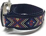 Cinturino in velcro, colore blu, con motivo