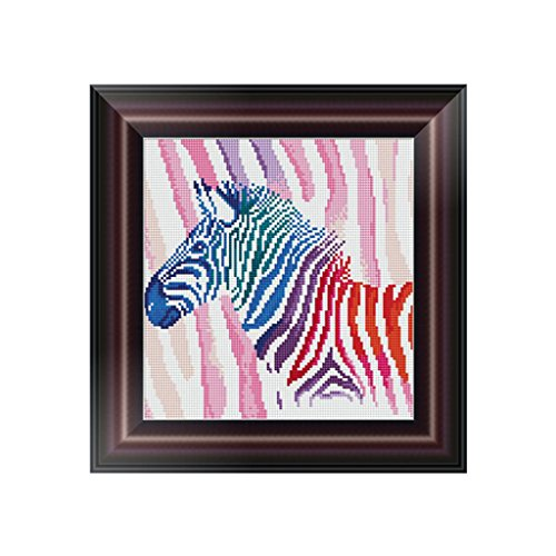 logres 5D Diamant Stickerei Zebra Malerei Kreuzstich DIY Craft Home Office Decor (Zebra Strass Western)