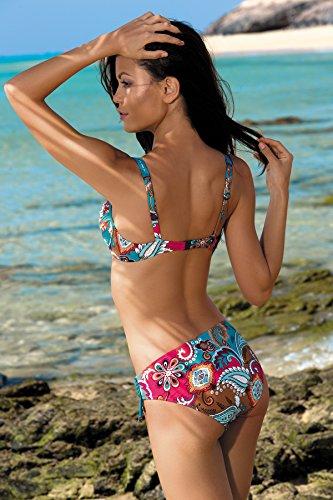 Feba Figurformender Damen Push Up Bikini D1N32L1V2RS4 Muster-05D