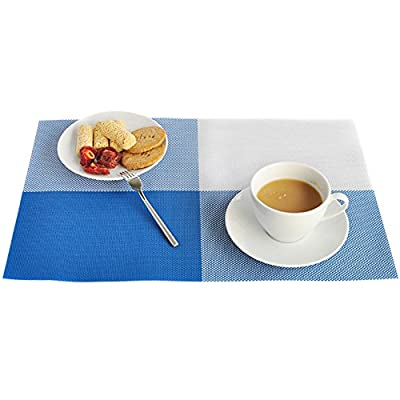 TININNA Square PVC Placemats Place Mat Table Mat Dinner Mat Desk Mat Set of 4 - low-cost UK light shop.