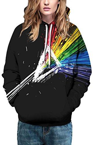 Bettydom Femme Sweats à Capuche Manteau Veste Sweatshirts Unisexe Multicolore Pullover 2-Faisceau