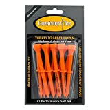 Consistent Tee 3 1/4 Pack of 10 Durable, Biodegradable Tees for Perfect Height and Position (Orange)