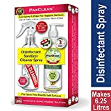 PaxClean – All in One – Triple Active Disinfectant Sanitizer Cleaner Spray Concentrate for Complete Home Hygiene (Lime & Tangerine) 250 ml (Makes 25 Bottles of Cleaner Spray)