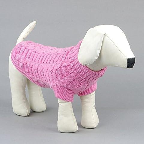 Pet Manteau d'hiver en polaire pull chaud doux coton deux pieds sans manches Slim Vêtements pour chien 2couleurs 6tailles 2pièces XXL rose clair