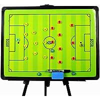 PhantomSky Professionel Stilvoll Fußball Große Taktiktafel Taktikmappe Coach Board Coach Mappe für die Spielanalyse oder Schulung mit Stützrahmen, Magnete, Stifte und Radiergummi (Größe: 60 x 45cm)