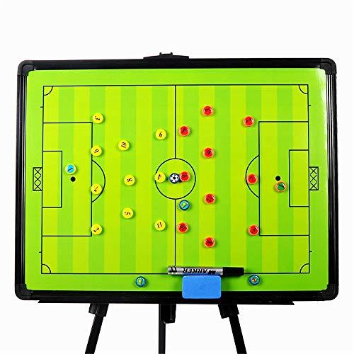 RoseFlower 60 x 45 cm Trainer Taktikmappe Fussball, Professional Faltbares Fußball Taktikmappe Taktiktafel Coach-Board mit Magnete, Stifte und Radiergummi