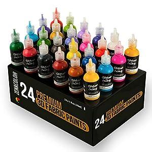textil: ⭐24 Botellas de Pintura 3D Textil y Tejido - Aprieta sobre los Tubos (29mL) para...