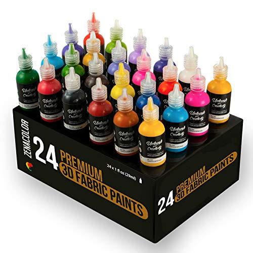 ¡Rompe los moldes, reivindícate y sé diferente gracias a la pintura para tela permanente en 3 dimensiones de Zenacolor!¿Quieres dar un toque personal, revalorizar y resaltar tus objetos cotidianos?Nuestro conjunto de 24 botellas de pintura resistente...