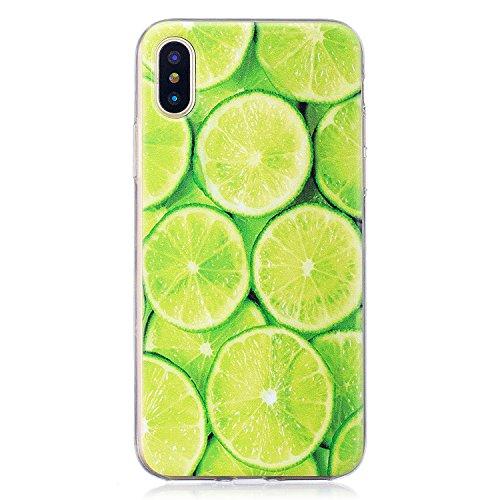 Per iPhone X Cover , YIGA Moda bianco margherita Cristallo Trasparente Cassa Silicone Morbido TPU Case Caso Shell Protettiva Custodia per Apple iPhone X (5,8) WM95