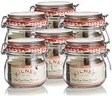 6 x Kilner Cliptop 0025.490 Round Preserve Jars: 0.5L/1lb