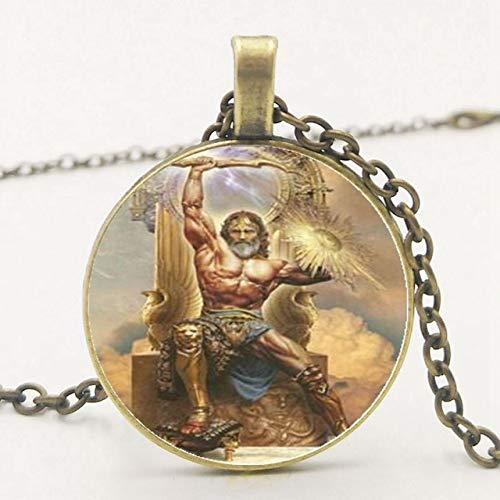 Griechische Mythologie Raytheon Zeus Anhänger Halskette Glas Halskette Halskette Pullover Kette