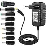 EFISH DC Netzteil 12V 2A 24W,AC 100-240V bis DC 12V Netzkabel tragbares Ladegerät für LED-Streifen,Fischbecken,Radiowecker,Scanner,Schalter,Router,Lautsprecher,T-Com,Speedport