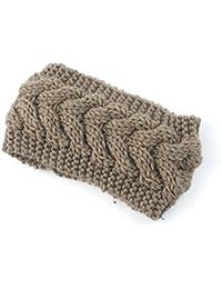 SODIAL(R) Women Lady Girls Knitted Twist Crochet Hair Band Ear Warmer Khaki