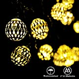 RECESKY Battery Operated Moroccan Ball String Lights 40 LED 7.9m Fairy Lantern Decor Lighting for Outdoor, Indoor...