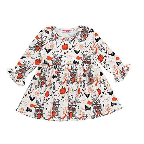 Wang-RX Halloween Kleinkind Baby Mädchen Langarm Kleidung Kleid Party Kleider Kostüm - Gehen Buggy Kostüm
