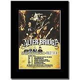 Alter Bridge–UK octubre Tour fechas 2013revista Promo sobre un soporte de negro