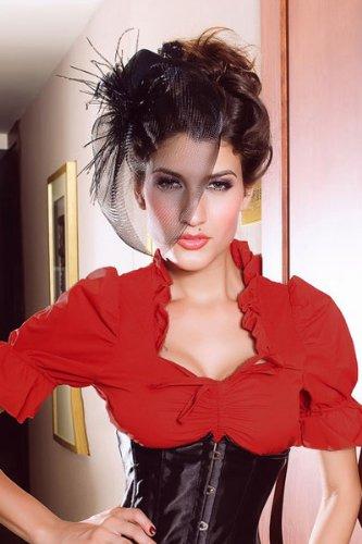 Yourdesignerz Dirndl-Bluse Damen rot Rot