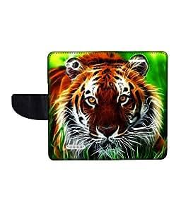 KolorEdge Printed Flip Cover For HTC Desire 616 -Multicolor (50KeMLogo10881HTC616)