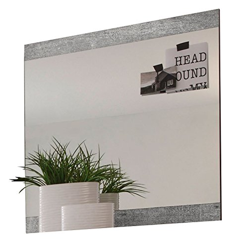 Garderobenspiegel Flurspiegel Wandspiegel SMILLA 8 | 68x70 cm | Betonoptik | Dekor
