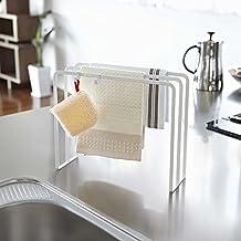 TY&WJ Cocina Escurreplatos Trapo rejilla de desagüe Estante de toalla Bayeta Bola de acero Colgador trapo