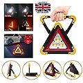 Huini Auto-Notfall-Licht, blinkendes Warndreieck, 4 Modi, helles LED-Licht, USB-wiederaufladbar, Powerbank-Funktion, wasserdicht für Notfall, Auto-Reparatur, Camping, Wandern, Angeln