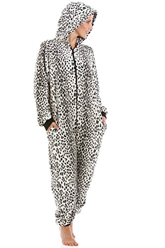 Camille Womens Various Style Wild Leopard Print All in One Onesie Pyjamas