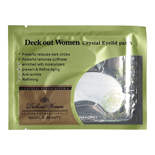 Anti-Wrinkle Crystal Collagen Eye Mask,Deck Out Women Crystal Eyelid Patch, Remove Black Eye Face Care (Deck Womens)