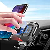 Wireless Car Charger, Smart Car Phone Holder, Car Air Vent Mount Automatic Infrarot-Induktionsladung für iPhone XS/X/8 Plus, Samsung Galaxy S9/S9+ etc