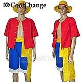 CoolChange One Piece Kostüme Monkey D. Ruffy nach 2 jähriger Trennung Hemd Hose Hut (M)