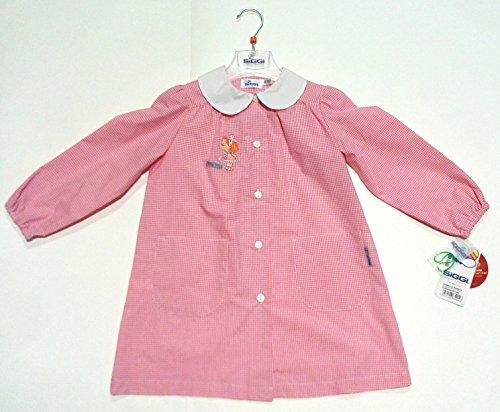 Grembiule asilo siggy princess rosa scuola infanzia bimba 3 anni altezza 98cm spalla 27cm bottoni