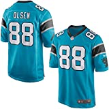 88 Greg Olsen Trikot Carolina Panthers Jersey American Football Shirt Mens Blue Size XXL(52)