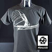 T-Shirt Windsurfen Surfen Illustration von Waveslide