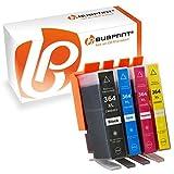 Bubprint 4 Druckerpatronen kompatibel für HP 364 XL 364XL Set mit Chip und Füllstand für HP Deskjet 3520 Officejet 4620 Photosmart