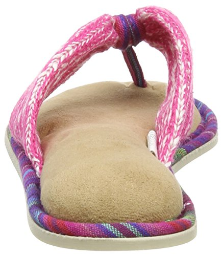 Dearfoams - Thong, Pantofole Donna Black (Wild Rose)