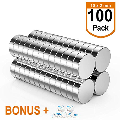 100 Imames Neodimio Super Potentes N42 Redondo Magnéticos