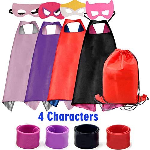 RioRand Superhelden Kostüm für Kinder verkleiden Sich mit Masken and Armbänders(4pcs)