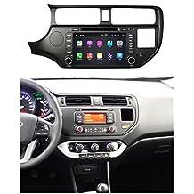 8 pollici Android 7.1 OS Lettore DVD dell'automobile per Kia K3/Rio(2011 2012 2013 2014),DAB+ radio Quad Core 1.6G Cortex A9 CPU 16G Flash 2G RAM DDR3 1024x600 GPS Radio Ingresso Aux OBD2