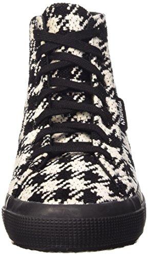 Superga 2795-Woolwpieddepoule, Sneaker, Donna 998 Black-White