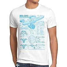 style3 NCC-1701 Blaupause T-Shirt Herren christopher pike trek trekkie star