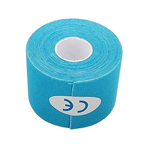 Fliyeong Kohäsive Bandage Elastic Wrap Sport Tape Baumwollbandage für Sportband Handgelenk Verstauchungen und Schwellungen Verwenden Sie 5M * 5CM 1PCS Hellblau - Kohäsive Bandage Wrap