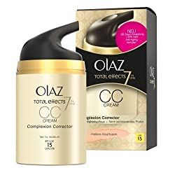 Olaz Olay Total Effects CC Cream, for Lighter Skin Types, Pump Bottle, 50 ml