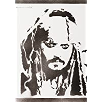 Jack Sparrow Pirates Of The Caribbean Poster Handmade Graffiti Street Art - Artwork