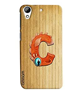 Omnam Single Name Stylish Alphabet C Printed Designer Back Cover Case For HTC Desire 626