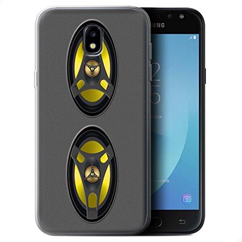 Stuff4® Gel TPU Hülle/Case für Samsung Galaxy J5 2017/J530 / Stereoanlage Muster/Lautsprecher Design Kollektion