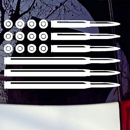 Wandtattoo Kinderzimmer Auto Aufkleber Auto Aufkleber Bullet American Flag Aufkleber USA Pro Gun Rights Infidel Fenster Aufkleber 15.3x9.2cm
