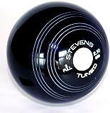 Stevens Crown Green Bowls High Density Black (Pair)