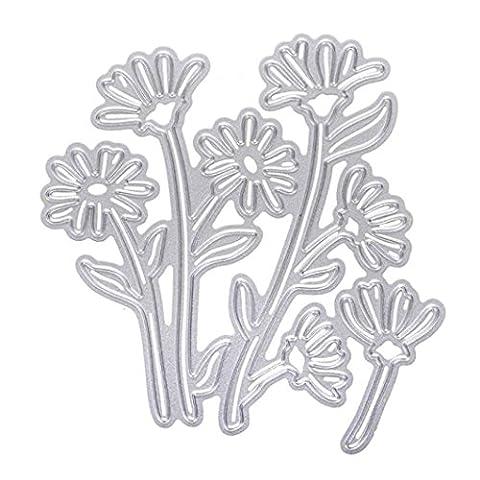 sixcup® Weihnachten flowermetal Formen Schablonen Scrapbooking Prägung für Album Scrapbooking Papier Karte Art diycraft N