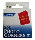 The Photo Album Company Dispenser Box with 250 Photograph Photo Corner - Clear